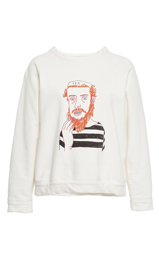 Medium sea white sea sailor sweatshirt