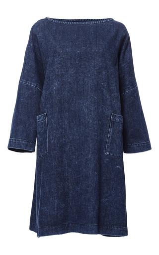 Medium sea blue oversized denim dress