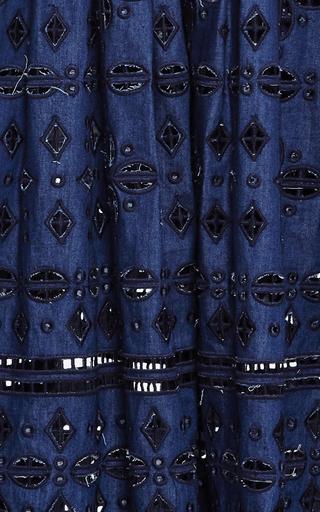 Diamond Eyelet Midi Dress by SEA Now Available on Moda Operandi