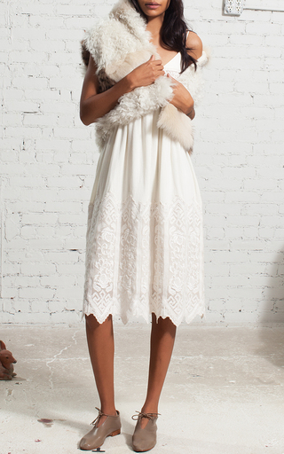 Embroidered Slip Dress by SEA Now Available on Moda Operandi