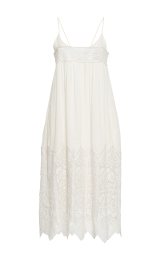 Medium sea ivory embroidered slip dress