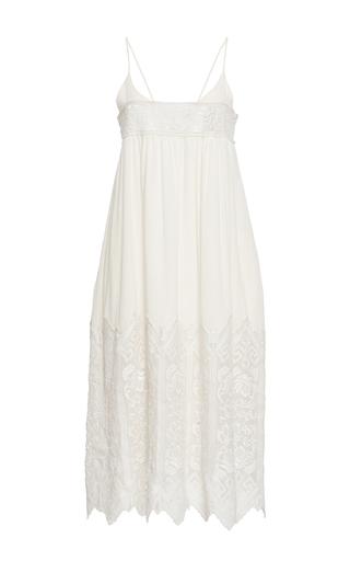 Medium sea ivory embroidered slip dress