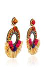 Fringed Drop Earrings by RANJANA KHAN Now Available on Moda Operandi