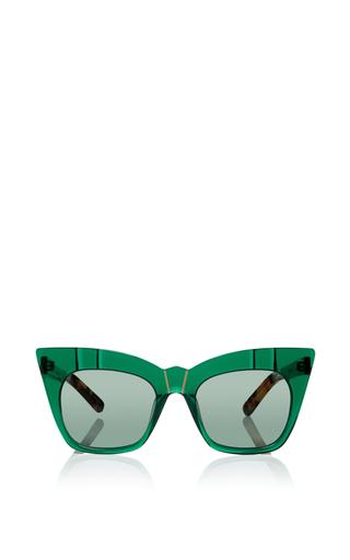 Medium pared eyewear green kohl kaftans cat eye sunglasse