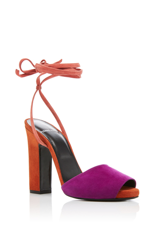 Medium pierre hardy orange loulou suede sandals