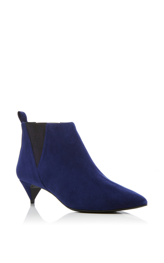 Medium pierre hardy navy twist suede ankle boots