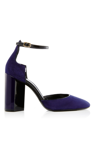 Navy Calf Suede Pumps by PIERRE HARDY Now Available on Moda Operandi