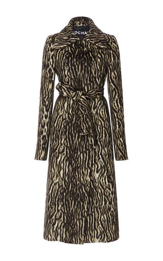 Medium rochas brown alpaca wool trench coat
