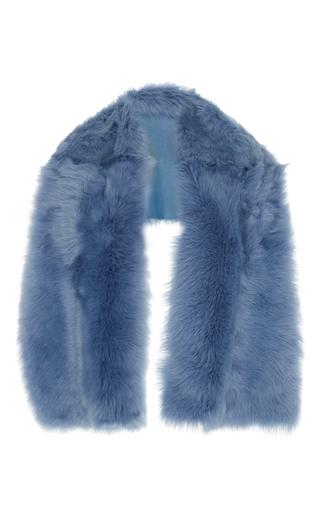 Medium rochas light blue medium blue lamb shearling stole