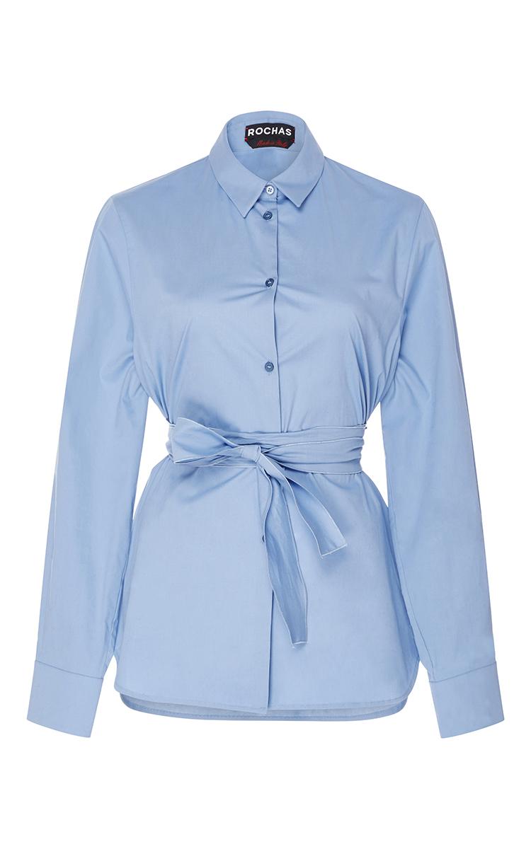 Silk Button Up Shirt With Sash By Rochas Moda Operandi