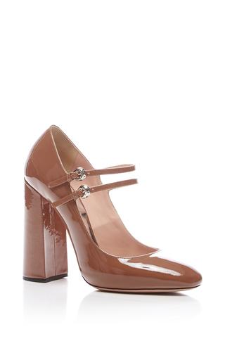 Medium rochas nude sierra patent leather mary jane shoe