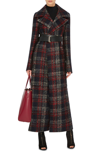 Checked Alpaca Wool Coat by ROCHAS Now Available on Moda Operandi