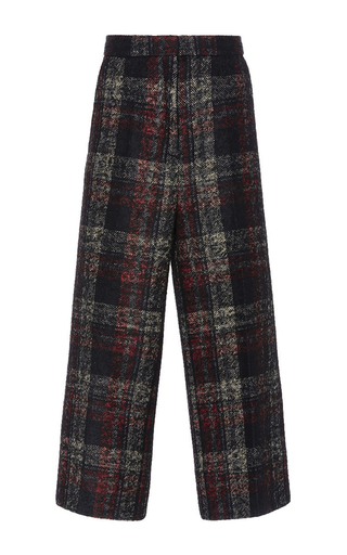 Medium rochas plaid checked alpaca wool pant