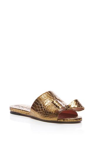 Medium rochas bronze embossed nappa leather sandal