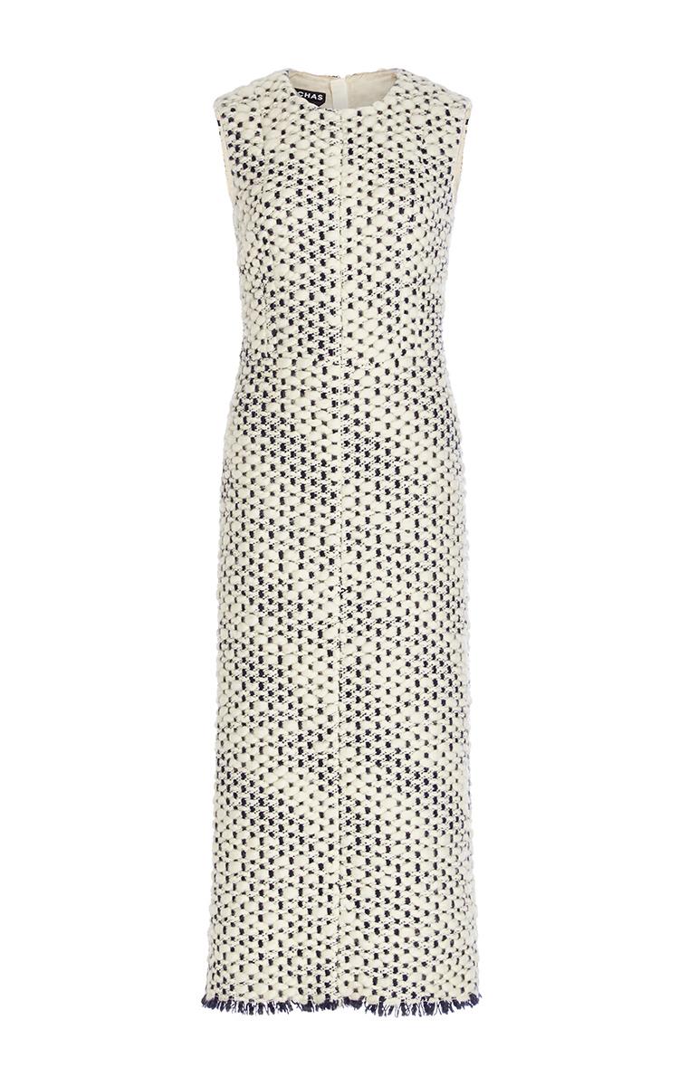 e40b43a6d5 RochasSleeveless Wool Sheath Dress. CLOSE. Loading