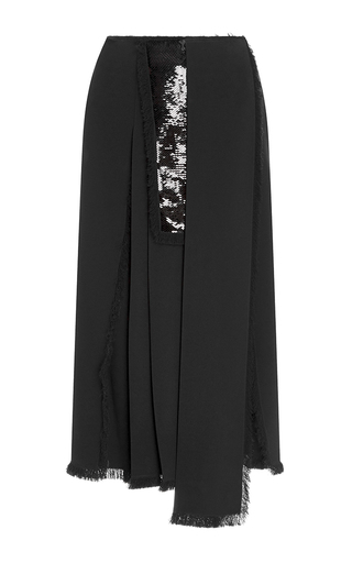 Medium rochas black paneled skirt