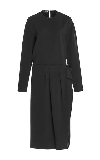 Medium rochas black long sleeve sheath dress