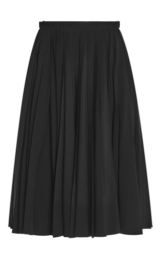 Medium rochas black gathered wool skirt