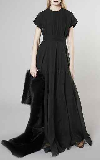 Short Sleeve Silk Gown by ROCHAS Now Available on Moda Operandi