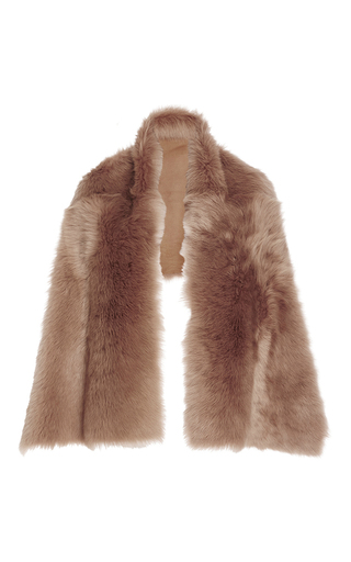 Lamb Shearling Stole by ROCHAS Now Available on Moda Operandi