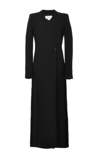 Medium antonio berardi black long sleeve wrap jumpsuit