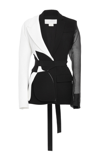 Medium antonio berardi white two piece colorblocked jacket
