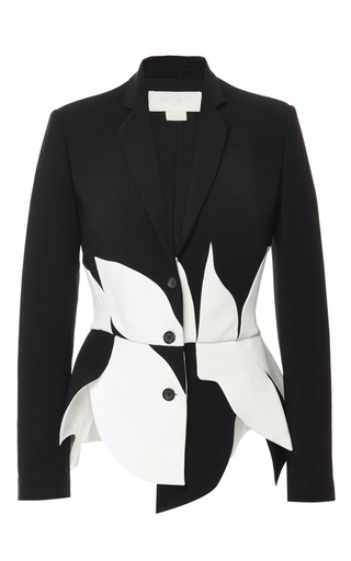 Medium antonio berardi black scalloped tailored blazer