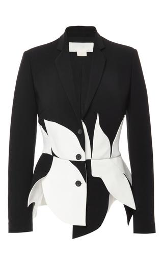 Medium antonio berardi black scalloped tailored blazer