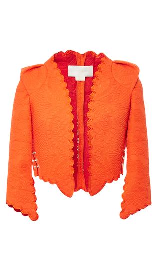 Medium antonio berardi orange scalloped cropped jacket