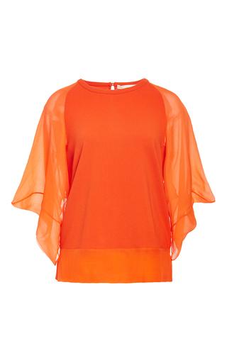 Medium antonio berardi orange chiffon blouse