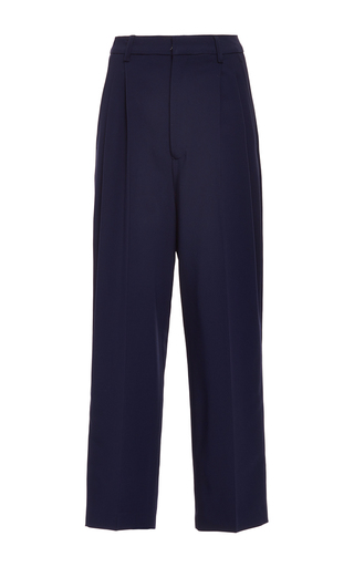 Medium antonio berardi navy navy tapered cropped trouser