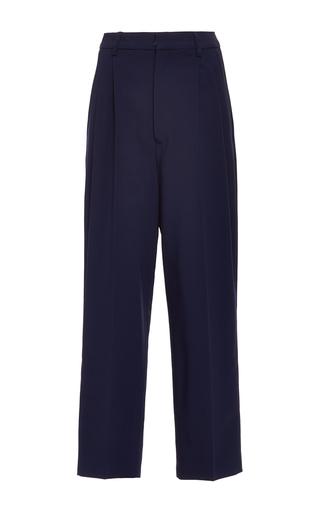 Medium antonio berardi navy navy tapered cropped trouser