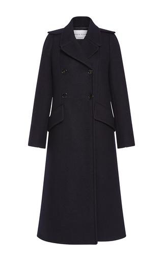 Medium sonia rykiel navy long soft wool pea coat