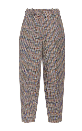 Medium sonia rykiel dark grey tweed high waist carrot pant