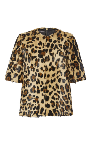 Medium sonia rykiel brown leopard printed goat top