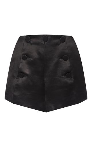 Medium sonia rykiel black padded satin sailor short