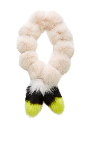 Medium sonia rykiel pink fox pom pom scarf