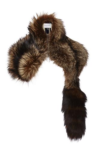 Medium sonia rykiel brown fox fur scarf