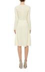 Lace Knit Long Sleeve Dress by OSCAR DE LA RENTA Now Available on Moda Operandi