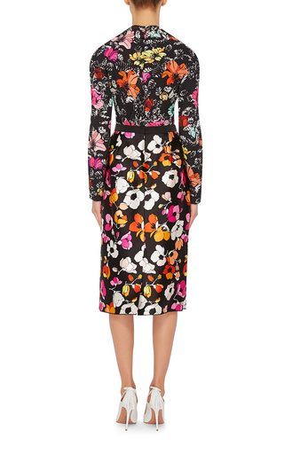 Tropical Printed Silk Blouse by OSCAR DE LA RENTA Now Available on Moda Operandi