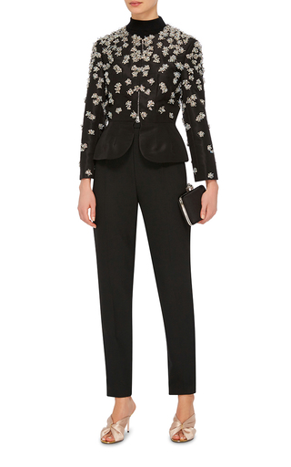 Embellished Peplum Jacket by OSCAR DE LA RENTA Now Available on Moda Operandi