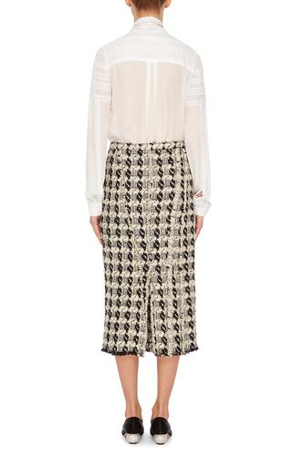 Tie Neck Blouse by OSCAR DE LA RENTA Now Available on Moda Operandi
