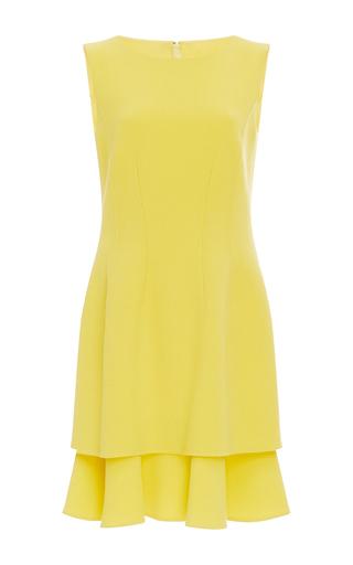 Medium oscar de la renta yellow tiered skirt mini dress
