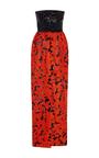 Strapless Floral Gown by OSCAR DE LA RENTA Now Available on Moda Operandi