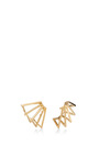 Gold Circuit Earrings by AZLEE Now Available on Moda Operandi