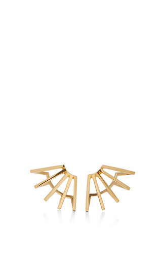 Medium azlee gold gold circuit earrings