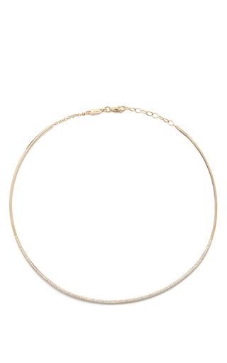 Medium azlee gold diamond collar