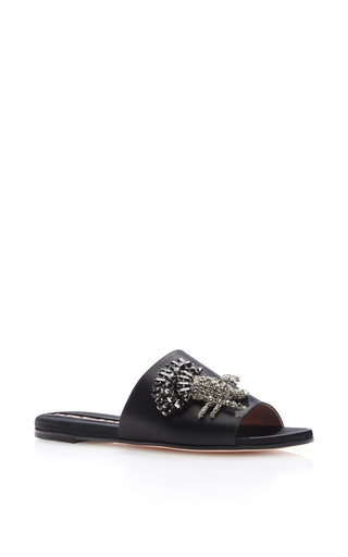 Medium rochas black bonita embellished slides  2