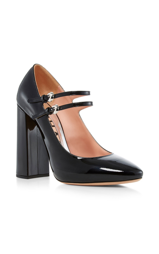 Medium rochas black enea patent leather mary janes  2