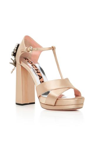 Medium rochas nude beaded satin heels